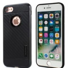 Husa MOTOMO Carbon Fiber Samsung Galaxy S7 Edge Black, Gel TPU