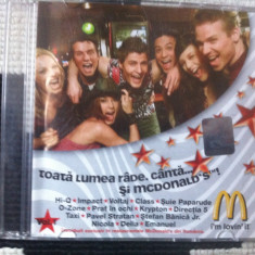 TOATA LUMEA RADE CANTA SI MCCDONALDS IM LOVIN IT CD DISC Muzica Pop cat music DANCE HOUSE