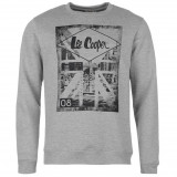 Hanorac Lee Cooper Original Bluza originala import UK, L, Bumbac, Gri, Lee Cooper
