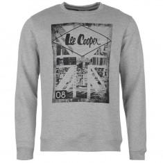 Hanorac Lee Cooper Original Bluza originala import UK - Bluza barbati Lee Cooper, Marime: L, Culoare: Gri, Bumbac