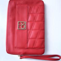 Portofel plic Calvin Klein femei, 100% Original USA - Portofel Dama Calvin Klein, Culoare: Rosu