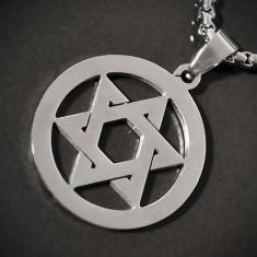 Amuleta, Pandantiv Steaua lui David (Scutul lui David) INOX - cod PND057