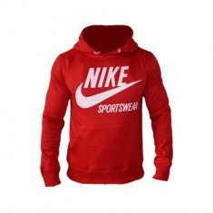 Hanorac Nike Sportswear Model SlimFit Cod Produs G803 - Hanorac barbati, Marime: XL, XXL, Culoare: Rosu, Bumbac
