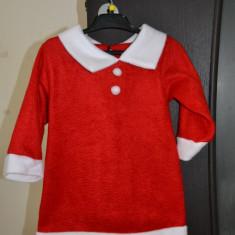 Costum craciunita fetita 3-4 ani (98 cm) - Costum carnaval, Marime: One size, Culoare: Rosu