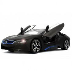 BMW i8 cu Telecomanda, Scara 1:14 Negru - Masinuta Rastar
