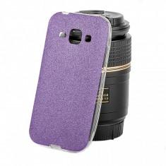 Husa silicon TPU Samsung Galaxy J1 Ultra Glitter mov - Husa Tableta
