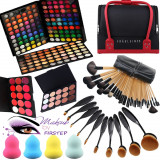 Make up kit profesionisti trusa machiaj 180 culori MAC 24 pensule geanta case, Mac Cosmetics