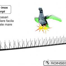 Kit Anti-pasari inox cu 80 tepi (Lungime 1 m) - Aparat antidaunatori