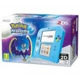 Consola Nintendo 2DS albastru + joc Pokemon Moon