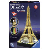 Ravensburger Puzzle 3D Turnul Eiffel Noaptea, 216 piese - Lumineaza Noaptea