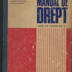(C7143) NICOLAE GHIMPA - MANUAL DE DREPT, PENTRU LICEELE ECONOMICE ANUL III - Carte Drept comercial