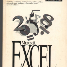(C709) MICROSOFT EXCEL. VISUAL BASIC, USER'S GUIDE, VERSIUNEA 5.0, TEXT ENGLEZA - Carte Microsoft Office