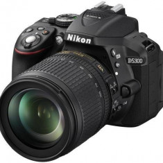 Kit aparat foto digital Nikon D5300 (cu obiectiv 18-105mm DX VR ), negru - DSLR Nikon, Kit (cu obiectiv), Peste 16 Mpx, Full HD