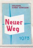 Bnk cld Calendar de buzunar 1973 - Neuer Weg