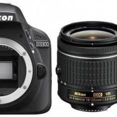 Aparat foto Nikon D3300 (AF-P 18-55mm VR + 55-200mm VR), body - DSLR Nikon, Kit (cu obiectiv), Peste 16 Mpx, Full HD