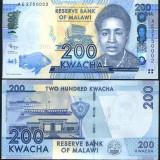 !!! MALAWI - 200 KWACHA 2012 - P 60 - UNC - bancnota africa