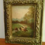 La pascut  - Constantin 1924 - tablou de colectie !, Natura, Ulei, Realism