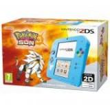Consola Nintendo 2DS albastru + joc Pokemon Sun