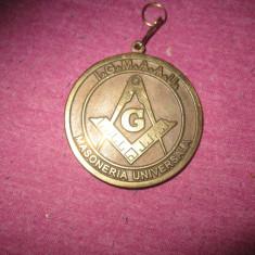 Medalie masonerie universala loja mesterul manole c2