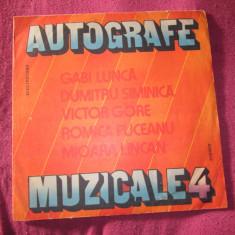 Vinil muzica autografe muzicale vol 4 ca nou - Muzica Lautareasca electrecord