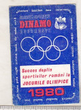 bnk cld Calendar de buzunar 1980 - Dinamo Bucuresti