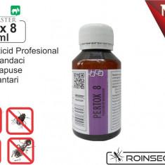 Solutie anti gandaci, muste, tantari, purici, capuse - Pertox 8 - 100 ml - Solutie antidaunatori