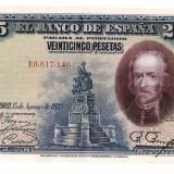 Spania 1928 - 25 pesetas XF