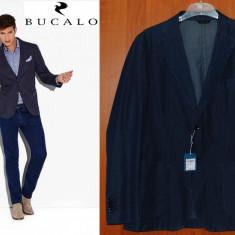 Bucalo-Angelico Sacou Casual Barbati SLIM FIT, Marime 50 (cca L) - Sacou barbati, Culoare: Bleumarin, 2 nasturi, Normal, Bumbac