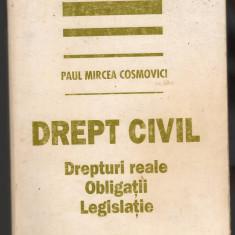 (C7102) PAUL MIRCEA COSMOVICI - DREPT CIVIL DREPTURI REALE DREPTURI REALE OBLIGA - Carte Drept civil