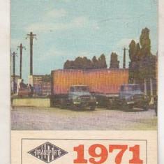 bnk cld Calendar de buzunar 1971 - Centrala transporturi auto - camioane Bucegi