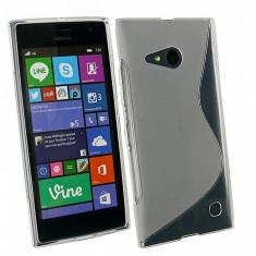 Husa silicon TPU Nokia Lumia 730 Dual SIM Wave transparenta - Husa Tableta