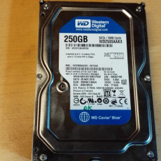 HDD PC Western Digital 250Gb Sata - Hard Disk Western Digital, 200-499 GB, Rotatii: 7200