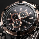 CEAS - Barbatesc, CURREN Luxury Mens Sport Stainless Steel Quartz Analog Watch, Lux - sport, Inox, Otel, Analog & digital