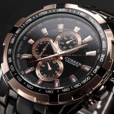 CEAS - Barbatesc, CURREN Luxury Mens Sport Stainless Steel Quartz Analog Watch, Lux - sport, Inox, Otel, Analog & digital