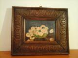 Unicat in Romania ! -Tablou vas cu  flori- Semnat ROTSCHILD 1922 !, Ulei, Impresionism