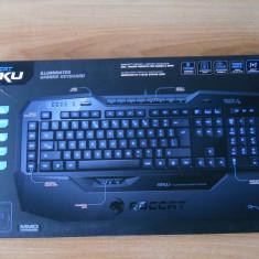 Tastatura Gaming Roccat ISKU Iluminata impecabila., Cu fir, USB, Tastatura iluminata