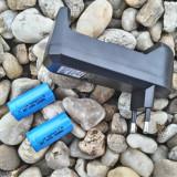 Incarcator + 2 Acumulator i 16340 marca ART de 1800 mAh Pachet Lanterna - Incarcator Aparat Foto