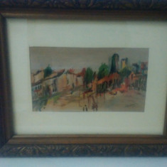 Prin oras - L. Grigorescu - tablou de colectie !, Scene gen, Ulei, Realism