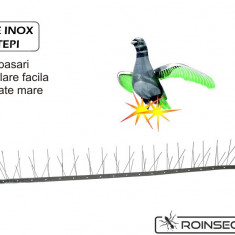 Kit Anti-pasari inox cu 60 tepi (Lungime 1 m) - Aparat antidaunatori