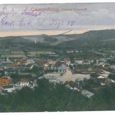 3275 - Arges, CAMPULUNG, Panorama - old postcard - used - 1918 - Carte Postala Muntenia 1904-1918, Circulata, Printata