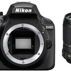Aparat foto Nikon D3400 (18-105 VR ) 3 ani garantie body - DSLR Nikon, Kit (cu obiectiv), Peste 16 Mpx, Full HD