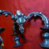 Suport superior Sfesnic multiplu ,inc,sec.XX ,metal argintat ,H=16cm