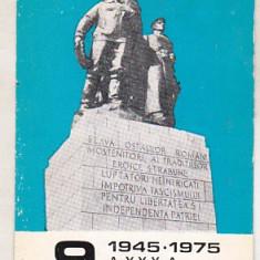 Bnk cld Calendar de buzunar 1975 - Editura Militara