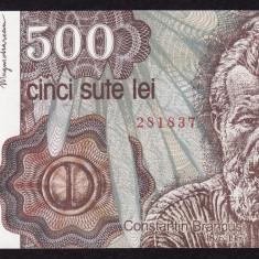 ROMANIA, 500 LEI IANUARIE 1991, UNC_serie B.0002_281837 - Bancnota romaneasca