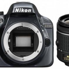 Aparat foto Nikon D3300 kit (obiectiv AF-P 18-55mm VR), negru, 3 ani garanţie body - DSLR Nikon, Kit (cu obiectiv), Peste 16 Mpx, Full HD
