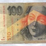 SLOVACIA 100 COROANE 1993 - bancnota asia