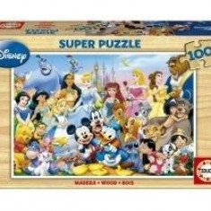 Educa The Wonderful World Of Disney, lemn, 100 buc. - Avion de jucarie
