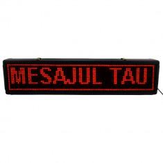 Panou reclama luminoasa LED pentru exterior, text personalizabil, 100x20 cm