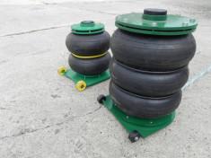 Cric pneumatic perna pneumatica cu trei pliuri 5 tone foto
