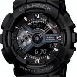 CASIO G-SHOCK GA-110 ALL BLACK-MODELNOU-BACKLIGHT-CALITATE PESTE PRET-POZE REALE